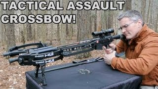 getlinkyoutube.com-Tactical Assault Crossbow! PSE TAC15 Upper for the AR15