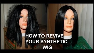 getlinkyoutube.com-HOW TO REVIVE YOUR SYNTHETIC WIG|GOLDENPRINT