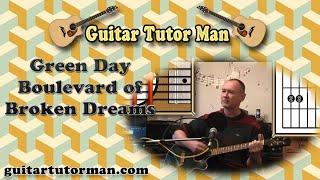 Boulevard Of Broken Dreams - Green Day - Acoustic Guitar Lesson (easy-ish)