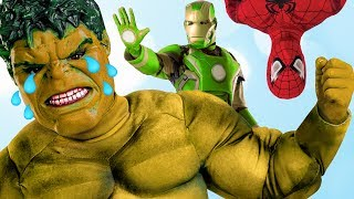 getlinkyoutube.com-Blue Yellow Red HULK Color Change Marvel Superhero IRL Toys for Kids Children & Toddlers