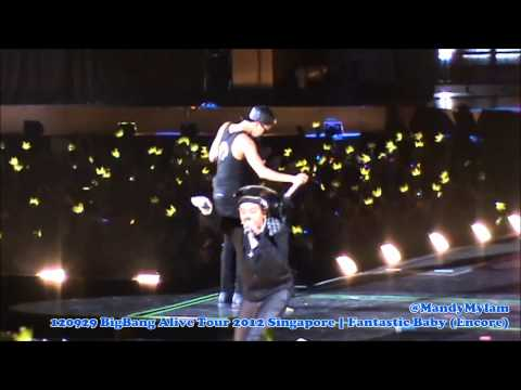 120929 BigBang Alive Tour 2012 Singapore - Fantastic Baby [Encore] (G-Dragon Fancam)
