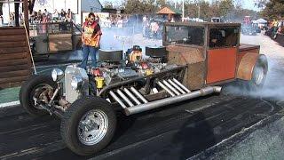 getlinkyoutube.com-TWIN ENGINE RAT DRAG CAR - Ozark Raceway Park