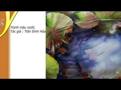 Tranh màu nước Trần Đình Hòa - Quán cafe đẹp