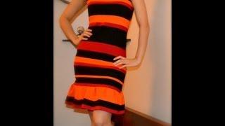 getlinkyoutube.com-✂ T-shirt reconstruction inspired by Prada Spring Summer 2011 Striped dress - Natalie's Creations