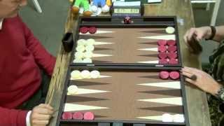 getlinkyoutube.com-2014 Leuven Open Backgammon: Last round, to decide tournament winner