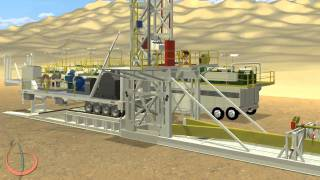 getlinkyoutube.com-Arab Drilling Landrig - Rig Move Procedure - 3D Land-Rig Animation