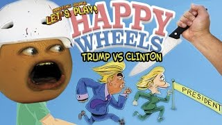 getlinkyoutube.com-Annoying Orange - Happy Wheels Election: TRUMP vs CLINTON