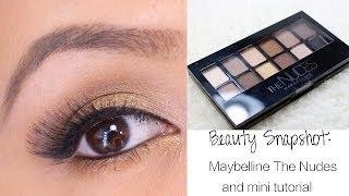 getlinkyoutube.com-Beauty Snaphot: Maybelline The Nudes Eyeshadow Palette