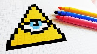 getlinkyoutube.com-Handmade Pixel Art - How To Draw Illuminati confirmed #pixelart