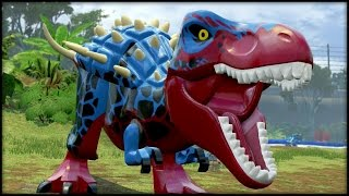 getlinkyoutube.com-LEGO Jurassic World - BLITZ-REX! CUSTOM DINOSAURS!