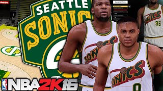 getlinkyoutube.com-NBA 2K16 Especial | Criando Times #01: Seattle Supersonics!