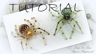 getlinkyoutube.com-tutorial Spider  My Czech Beads
