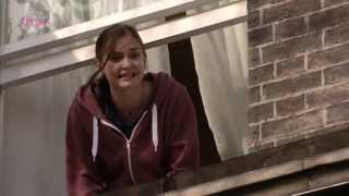 Eastenders Lauren shouts to whitney that she has just done a Poo and not come in because it stinks