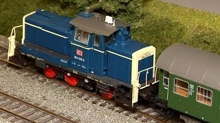 getlinkyoutube.com-Beautiful model train layout and railroad in scale H0 and scale H0e