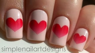 getlinkyoutube.com-Valentine's Day Heart Nail Art Tutorial