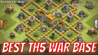 BEST TH5 War Base 2018 - ANTI GIANT | ANTI BALLOON - New Town Hall 5 Trophy Base • Clash of Clans