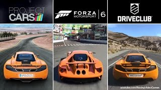 Forza 6 vs. DriveClub vs. Project CARS | Graphics, Rain & Weather Gameplay Comparison (PS4 & Xbox)