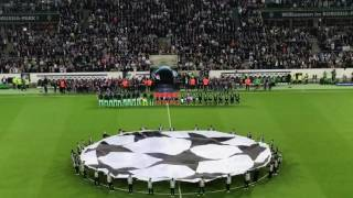 Borussia Mönchengladbach vs. FC Barcelona - Champions League - 1 - 2 - Einlauf der Mannschaften