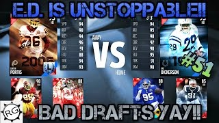 getlinkyoutube.com-Madden 16 Draft Champions #51!! (Ranked) 2 New Drafts! Everyone Has E.D. Except Us?!?!