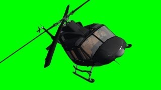 getlinkyoutube.com-Helicopter Bell Fly By with Sound on green screen - free green screen 6