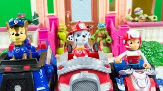 getlinkyoutube.com-Paw Patrol Toys Ryder Marshall Chase Toy Cars Toy Trucks Nickelodeon