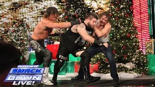 Ambrose vs Ziggler vs Owens - Intercontinental Title Triple Threat: SuperSmackDown, Dec. 22, 2015