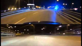 getlinkyoutube.com-HIGHWAY 2 C63 AMG VS SWEDISH POLICE BEST CHASE