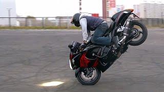 getlinkyoutube.com-Suzuki Hayabusa Stunt