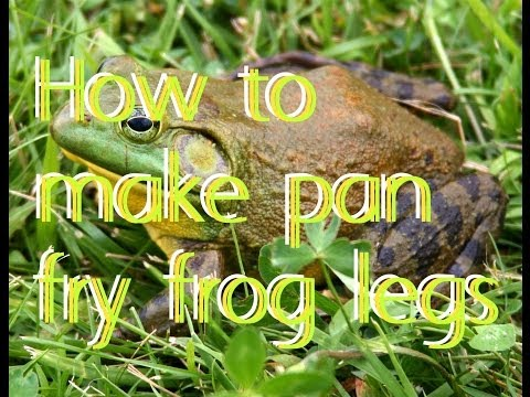 How to make pan fry frog legs
