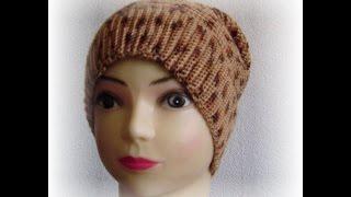 getlinkyoutube.com-Вязаная шапка мешок крючком на весну.Вязание с LusiTen