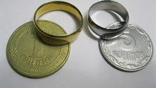 getlinkyoutube.com-как сделать кольцо из копейки (монеты)