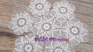 getlinkyoutube.com-Mantel Circular con Tejido Hexagonal de Piñas
