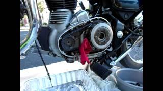 getlinkyoutube.com-Removed Broken Sprag Clutch of Royal Enfield Motorcycle