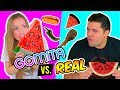 GOMITA GIGANTE vs COMIDA REAL 🍉🍭 ¡EXTREMO! | GIANT GUMMY vs REAL | Katie Angel