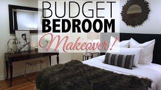 getlinkyoutube.com-Budget Bedroom Makeover |  Home Decor