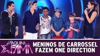 getlinkyoutube.com-Máquina da Fama (06/07/15) - Desafio: Meninos de Carrossel cantam One Direction
