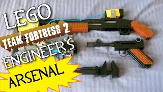 getlinkyoutube.com-Team Fortress 2: LEGO Engineer's FULL Arsenal (Rescue Ranger, Lugermorph, Gunslinger, etc.)