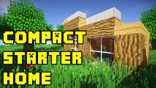 Minecraft: Simple Compact Survival House Build Tutorial Xbox/PE/PS3/PC