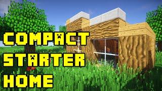 getlinkyoutube.com-Minecraft: Simple Compact Survival House Build Tutorial Xbox/PE/PS3/PC