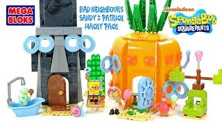 getlinkyoutube.com-Mega Bloks SpongeBob SquarePants Bad Neighbors Set Sandy & Patrick Wacky Packy Kids Toys
