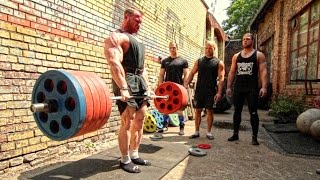 getlinkyoutube.com-Bodybuilder Owns FOUR Powerlifters! Deadlift Session