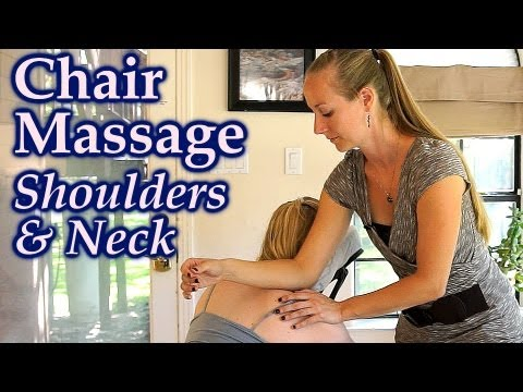 Massage Techniques for Neck & Shoulder Pain, ASMR Relaxing Body Work How to | Austin Chair Massage