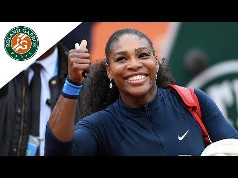 S. Williams v Bertens 2016 Roland-Garros Women`s Highlights/ 1/2