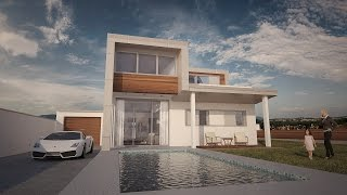 getlinkyoutube.com-Vray for Cinema 4D - Progreso de una escena exterior