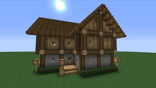 getlinkyoutube.com-Detailed Advanced 2 Story Wooden House Minecraft Tutorial