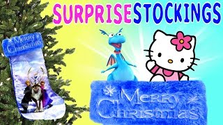 getlinkyoutube.com-Disney Frozen Toy Surprise Stocking Barbie Hello Kitty Princess Sofia The First Doc McStuffins DCTC