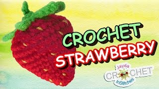 getlinkyoutube.com-Crochet Strawberry Pattern & Tutorial