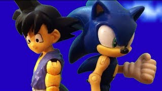 getlinkyoutube.com-Sonic VS Kid Goku Stop Motion Animation