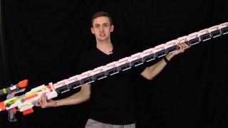 getlinkyoutube.com-WORLD'S LONGEST NERF GUN?!