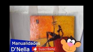 "getlinkyoutube.com-Manualidades: ""Cuadros Abstractos 02"" - By: ""Taller Dnella''  2013"